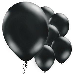 Ballonnen   zwart   10 st.