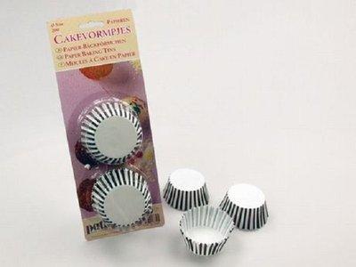 Cupcake cups streep 200 stuks