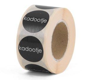 Stickers | Kadootje | 10 X  rond