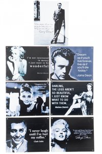 filmsterren op tekstbord foto marlyn monroe