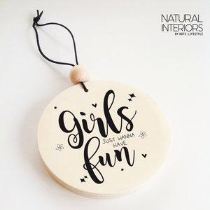 Hangdecoratie   GIRLS FUN  Dots Lifestyle