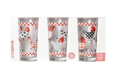 Glazen 2 sets van 3 LINDA