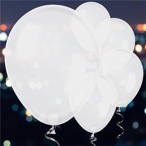 """LED Ballonnen 5 stuks in de kleur wit. formaat 11"""""""