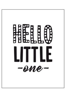 Houtblok Hello little one