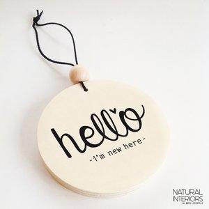 Hangdecoratie   Hello  Dots Lifestyle