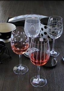 Wijnglazen 4 x | stip/streep