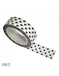 Masking Tape wit | Stip zwart