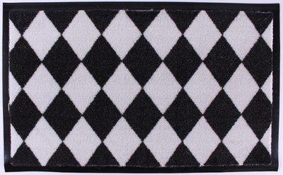 Deurmat 45 x 75 cm Zwart Wit