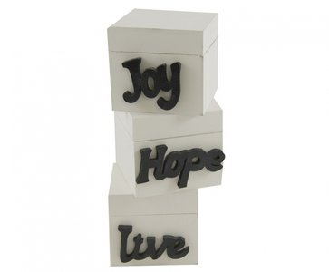 Opbergboxen set 3 Live - Hope - Joy