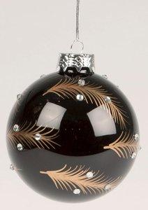 Kerstbal |  Zwart |  Veren