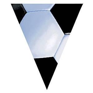 Vlaggenlijn Voetbal zwart wit