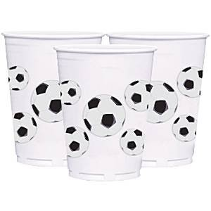 Bekers XL|Voetbal| plastic 414 ml