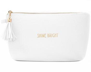 Make up tasje |Shine Bright | Wit