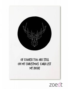 Kerstkaart | Of course you are on my Christmas card list