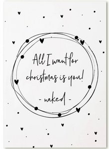 Kerstkaart | All I want for christmas..