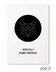 Kerstkaart | I wish you a bearry christmas
