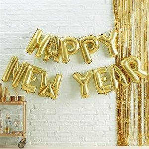 Happy New Year Letter Ballonnen 13 stuks