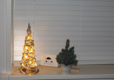 Kerstboom/kegel | LED 40 cm. | Wit