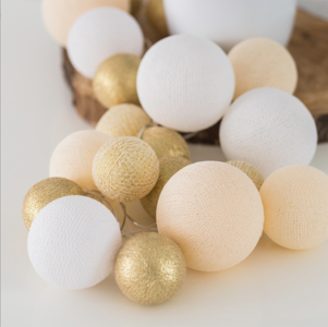 Cotton Ball Lights Premium GOLD 20
