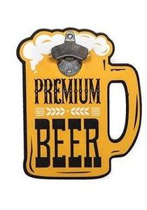 """Flesopener/Bierfles opener muur""""premium beer"""""""