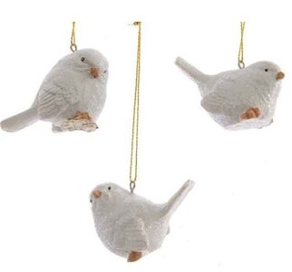 Kerstboomhanger vogel wit