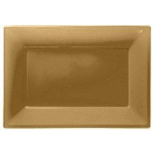 Serveerschalen set/3  Plastic GOLD