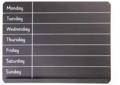 weekplanner krijtbord