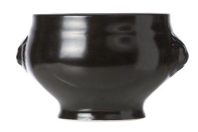 Zwarte soepkom Soepkoppen mat zwart set 4