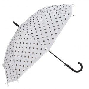 Paraplu | stippen wit zwart