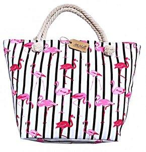 Strandtas Flamingo's