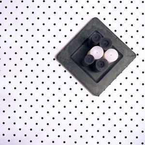 Tafelkleed Wit/Zwarte stip Gecoat