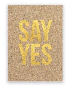Kaart | SAY YES +enveloppe