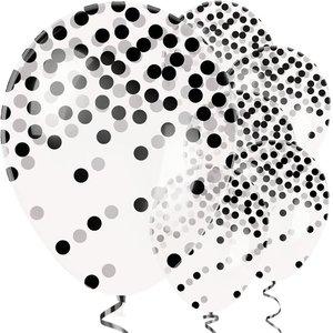 Ballonnen   confetti   Zwart-Wit