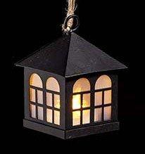 Kerst | Huisje | LED 8 cm Zwart