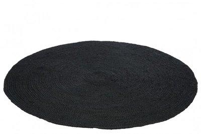zwart Vloerkleed rond Zwart 150 cm