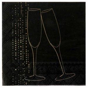 Servetten Champagne Zwart