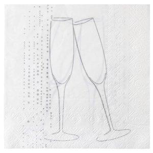Servetten Champagne Wit