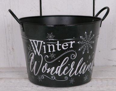 Bloempot Wonderland/Kerst 30 cm.