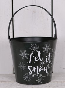 Bloempot Let it snow 21 cm.