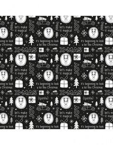 Inpakpapier | Kerst zwart