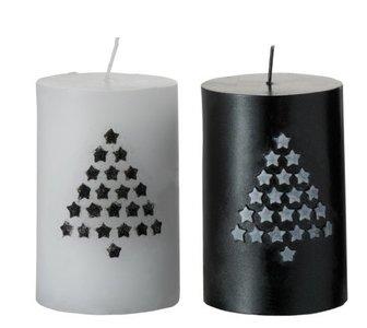kaars zwart wit kerst