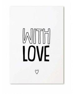 "Cadeaukaartje ""With Love"""