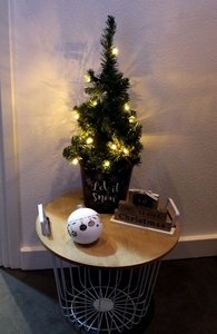 Kerstboom 60 cm in metalen emmer/set