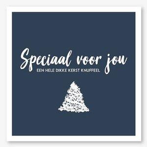 Kerstkaart Moodz/Speciaal voor jou een dikke Kerst knuffel