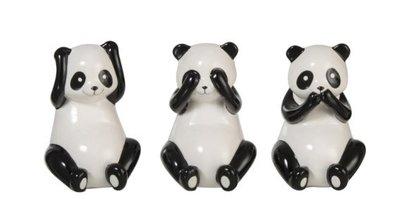 horen zie zwijgen pandabeer
