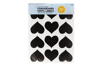 Stickers Hart  krijtbord/24