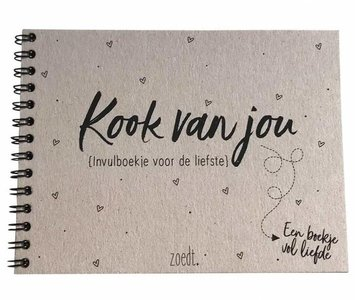 "Valentijn ""LOVE"" Invulboekje 'Kookvanjou'"
