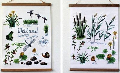 Tuinposter/Buitendoek Weiland  2 assorti