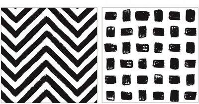 Servetten zwart wit J-Line