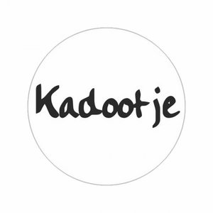 Stickers Wit | Kadootje | 10 X  rond